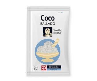 Carmencita- Dehydrierte Kokosraspeln - Zutat - Unverzichtbar bei der Zubereitung von Kuchen und Schokokugeln - 65 Gramm