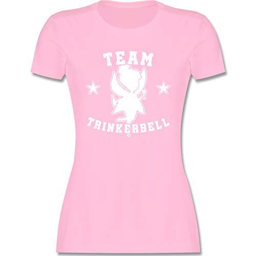 JGA Junggesellenabschied Frauen - Team Trinkerbell Collegestyle - S - Rosa - Team trinkerbell Shirts - L191 - Tailliertes Tshirt für Damen und Frauen T-Shirt