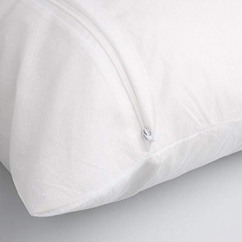 COMFORTNIGHTS Pack of 2 Pillow Protectors with Zip - Machine Washable - Anti-Allergy, Anti-Bacterial.