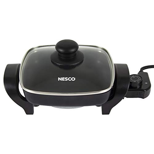 NESCO ES-08, Electric Skillet, Black, 8 inch, 1800 watts