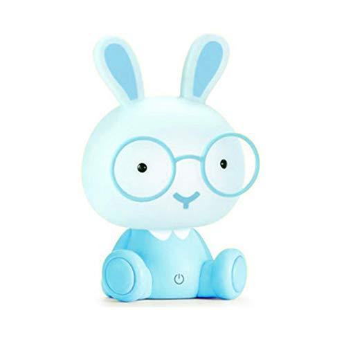 Swide Lighting Cute Bunny Night Light Cute Bunny Kids Luz de Noche con Gafas LED Bunny Lámpara de protección Ocular alimentada por USB Lámpara de Mesa LED portátil de Conejo parsimonious