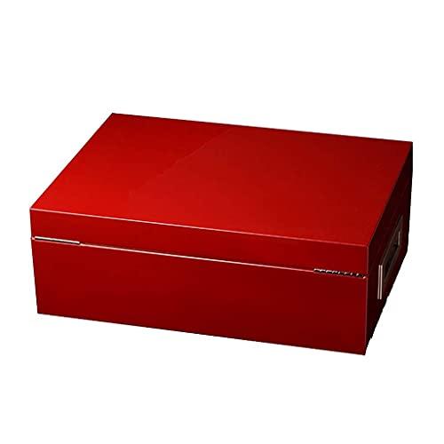 QULONG Zigarettenetui Humidore Zigarre Aufbewahrungsbox 200 Sticks Importiert Hochleistungs-tragbares Doppelschicht-Super-Kapazitäts-Feuchtigkeitsmessgerät Kochen & Essen