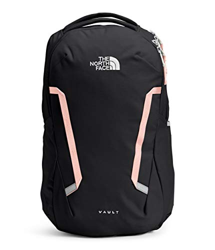 The North Face Women's Vault Backpack, TNF Black/Evening Sand Pink, One Size
