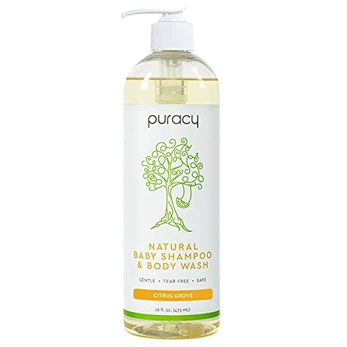 Puracy Natural Shampoo & Body Wash, Plant-Derived Baby Shampoo & Baby Wash, Gentle Soap for Sensitive Skin, Tear-Free, 12 Fl Oz