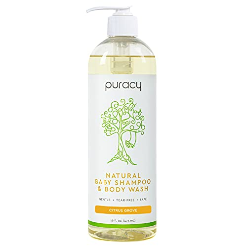 Puracy Natural Shampoo & Body Wash, Plant-Derived Baby Shampoo & Baby...