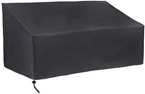 ガーデンベンチカバー2/3/4シーター、MAYHOURパティオリクライニングソファカバー防水、防風、耐引裂性210DオックスフォードファブリックアンチUVテーブルチェア家具カバー屋内屋外用ブラック (163x66x89cm (3 seater))