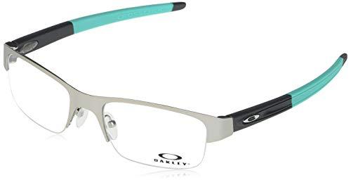 Oakley Men's OX3226 Crosslink 0.5 Prescription Eyewear Frames, Satin Light Steel/Demo Lens, 55 mm