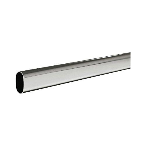 SECOTEC Schrankrohr | Kleiderstange oval 30x15 mm | Länge: 100 cm | individuell kürzbar | stabile Nischenstange | hohe Tragkraft | 1 Stück
