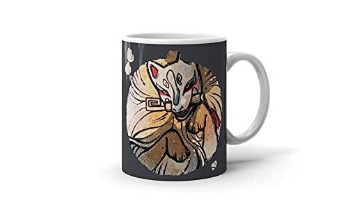 N\A Taza DE CAFÉ Fox & Wisps Kitsune Yokai Foxfire 11oz Taza Blanca Nuevo