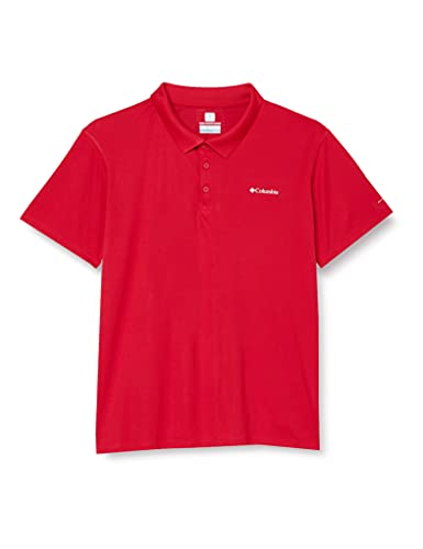 Columbia Zero Rules Polo à Manches Courtes Homme, Mountain Red, Small