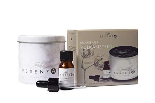 Essenza Premium Raumduft - Duftdose mit echtem Vulkanstein, 10 + 180 g