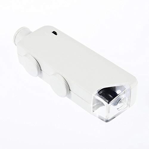 Manyao De Mano 160X-200X Zoom len LED encendió la lámpara de la luz del microscopio del Bolsillo Lupa de la Lupa