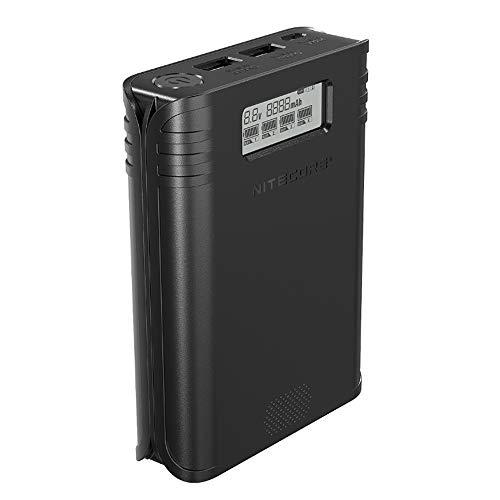 NITECORE F4 IMR/Lithium-Ionen-Akku-Ladegerät/Handy-Powerbank/Batterie-Organizer mit Vier Steckplätzen