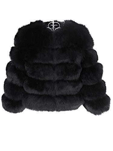 Lea Marie Damen Jacke aus 100% ECHTPELZ ECHTFELL Jacke Felljacke Pelzjacke Kiana Gr. XS - 3XL (Black, XXXL)
