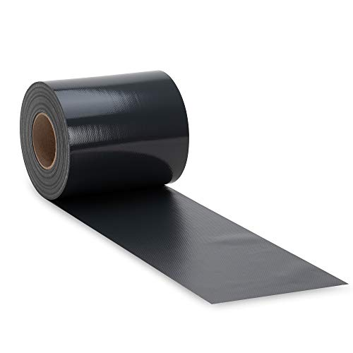 NOOR Zaunblende PVC Blickdicht 630 g/m2 Anthrazitgrau I 0,19 x 35 m I Der ideale Sichtschutz für Ihren Doppelstabmattenzaun I Sichtschutzstreifen in vielen Farben I Witterungsbeständig