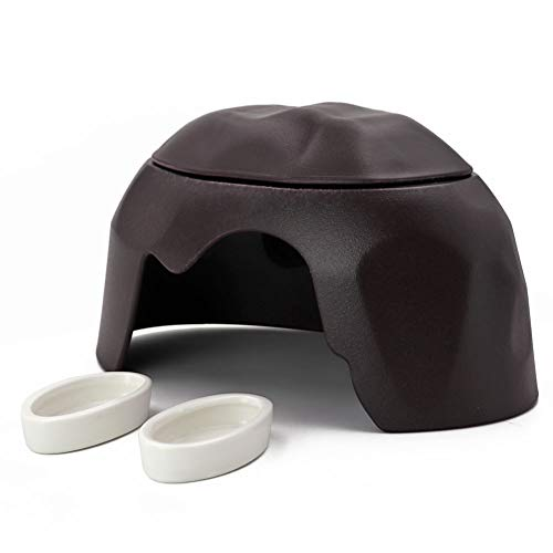 M.Z.A Reptile Hide Cave Box Humidifier Cave Reptile Hideout Humidification Cave with Sink for Turtle Lizard Tortoise Snake Leopard Gecko Ball Python