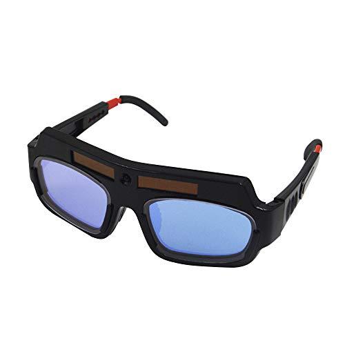 KKmoon Gafas de soldadura eléctricas automáticas variables, luz fuerte y gafas de protección UV