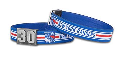 BRAYCE® New York Rangers Armband mit Deiner Trikot Nummer 00-99 I Eishockey pur mit dem NHL® NY Rangers Trikot am Handgelenk personalisierbar & handgemacht