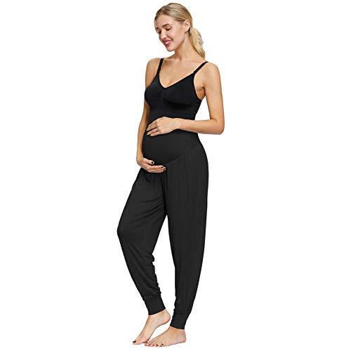 Maacie Damen Strench Schwangere Yogahose in voller Länge MCS02036-1_L