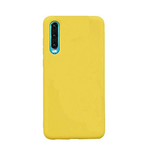 cuzz Custodia Samsung Galaxy A70+{Film di Vetro temperato}Silicone TPU Cover Morbida Protettiva Custodia Ultra Sottile Leggero Cover-Giallo