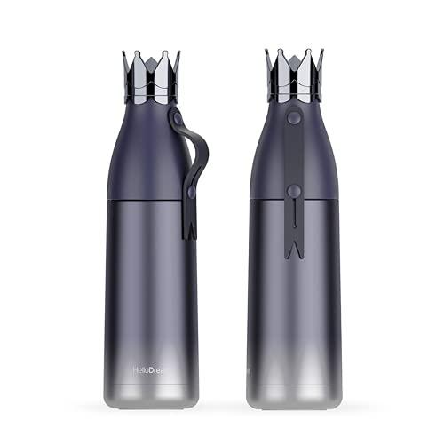 HOSD Taza de viaje de acero inoxidable a prueba de fugas, botella de agua de aislamiento al aire libre, 350 ml, 1 unidad (azul diamante, 350 ml)