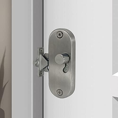 Serrure de porte coulissante à 90° à angle droit avec boucle de verrouillage de porte coulissante et verrou de porte de grange