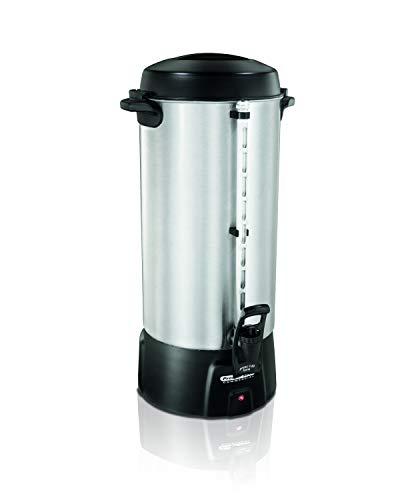 Proctor Silex 45100 100 Cup Brushed Aluminum Coffee Urn, Silver