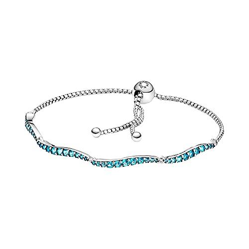 Pandora Blue Wavy Slider Bracelet