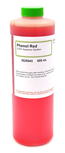 0.02% Aqueous Phenol Red Solution, 500mL - The Curated Chemical Collection