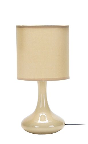Quality, QAB914-BG, Abajur Cerâmica Tecido, 40W, Bege