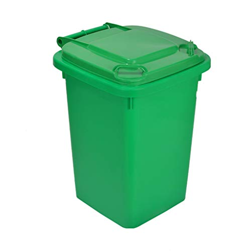 Best Prices! LXF Outdoor Waste Bins Green Outdoor Plastic Waste bin, Trash can, Trash can, Heavy Dut...