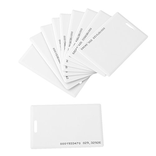 EM4100 10x 1.2mm Tarjeta De Identificacion RFID 125KHz De Concha Em Control De Acceso De La Puerta De Espesor