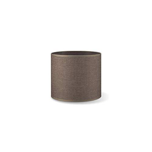 Lampenschirm rund | Canvas | Geeignet Für Pendellampe Stehlampe Tischlampe Wandlampe Deckenlampen besteht aus Baumwolle Für E27 Fassung Durchmesser 20cm Höhe 17cm Braun Für alle Innenraumen