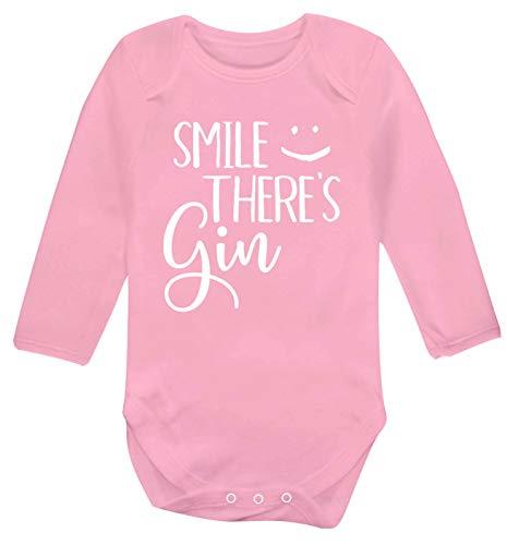 Flox Creative Gilet à Manches Longues pour bébé Smile There's Gin - Rose - XL