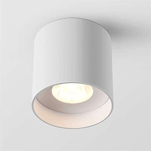 Luz de techo montada en superficie LED, lámpara redonda RA80 de Downlight 110V - 230V, foco de aluminio de la mazorca, iluminación blanca Luminaria anti-deslumbramiento [Clase de energía A ++]