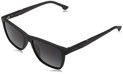 POLICE Men's WAKA 1 Sunglasses, MATT Black, 55