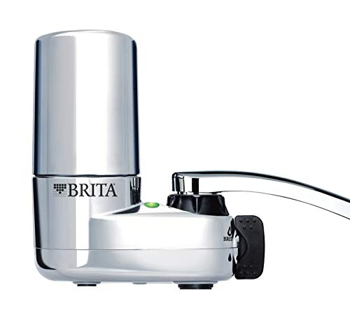 Brita 35618 Basic Faucet Water Filter System, Single Unit, Chrome w/Indicator