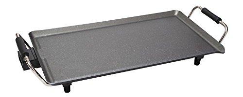 Elektrische grill met aluminium grillplaat, antiaanbaklaag, 1800 watt, groot grilloppervlak 47 cm, thermostaat, tafelgrill elektrisch)