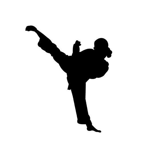 Black Box car Sticker 13 * 16 cm chinesische Kung fu Master Legend weibliche autoaufkleber Karate Fenster Dekoration Auto Decals Black Box car Sticker (Color Name : Black)
