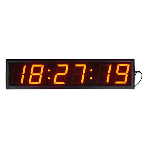 Temporizador de Conteo LED 4' Gran pantalla LED reloj de pared digital inteligente con control de mando a distancia / WiFi a través de Internet y el temporizador de cuenta regresiva Temporizador de Gi