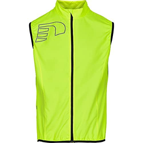 NewLine - Chaleco Cortavientos Core Vest Neon Yellow Man para Hombre, Amarillo Fluo, L
