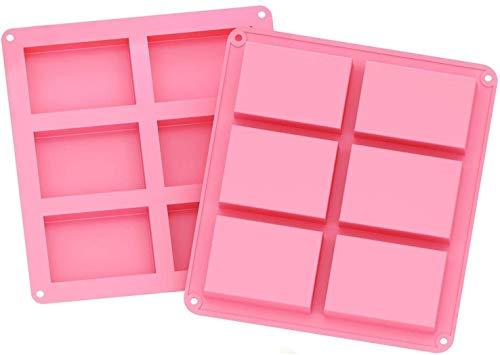 potente para casa Molde de silicona, molde de jabón, molde de silicona rectangular de 2 6 cavidades con sus propias manos …