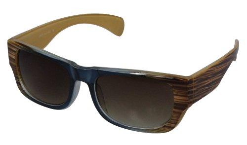 Alex Flittner Designs Nerd Sonnenbrille im marmor Look braun