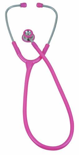 Veridian 05-10710 Pinnacle Series Stainless Steel Infant Stethoscope, Pink