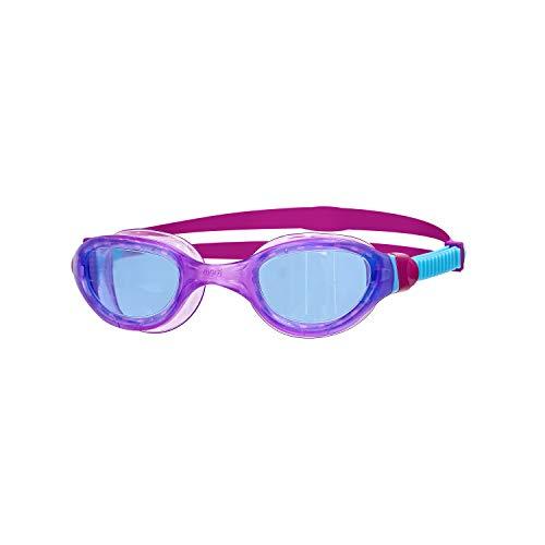 Zoggs Phantom 2.0 Junior with UV Protection and Anti-Fog Gafas de natación, Infantil, Tinte Azul Claro/Morado/Azul, 6-14 años
