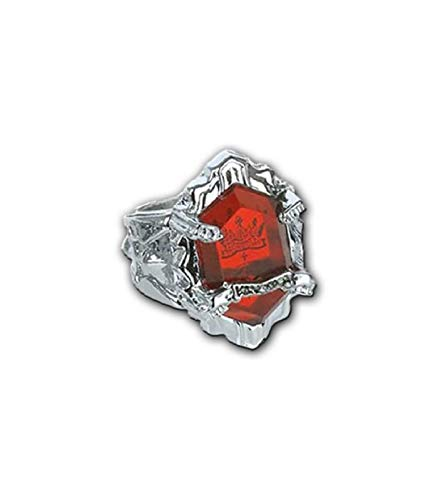 pidak shop Anillo con piedra roja de la familia, talla 18