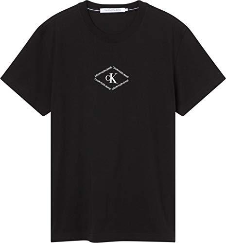 Calvin Klein Jeans MONOTRIANGLE Tee T-Shirt, CK Nero, XXL Uomo