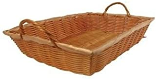Winco PWBN-12B Rectangular Woven Basket with Handles 12-Inch by 8-Inch by 3-Inch