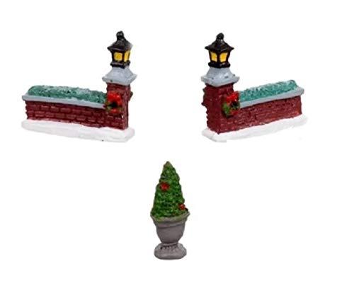 Cobblestone Corners Miniature Christmas Village - Resin Accessories