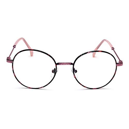 Damen Modische Runde Nerdbrille Klassisches Rund Rahmen Glasses Klare Linse Brille